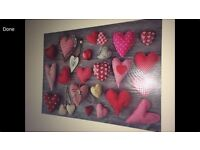 Large canvas with heart design