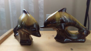MINT Pair of Porcelain Dolphins from the 1960s