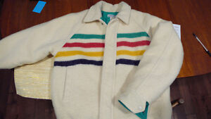 REDUCED! Hudson bay  wool jacket. rare vintage. excellent  cond'