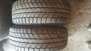 2 winter tires 215. 60. 15 like new