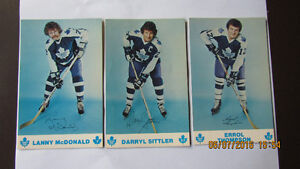 Leafs McDonald Sittler and Thompson post cards. Kitchener / Waterloo Kitchener Area image 1