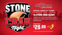STONE CRAB NIGHT @ The Canadian Brewhouse
