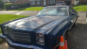 1976 Monte Carlo For sale with low KM
