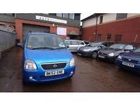 2002 / 52 Suzuki Wagon R 1.3 Special (R+) 5 Door Full MOT+Warranty+AA Cover