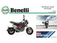 2018 BENELLI TNT125.. 50.23 OVER 48M WITH A 199 DEPOSIT.9.9% APR.
