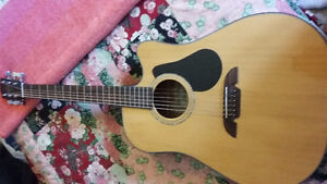 Alvarez Electric Acoustic Guitar + Gear