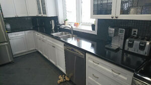 Staron countertop with Sinks and faucet
