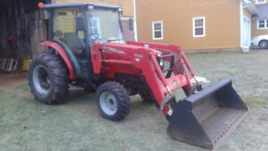 2010 Massey Ferguson MF1552 Tractor, Forks and Blower For Sale