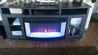 tv stand/ fire place combo