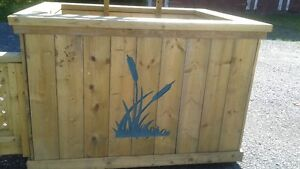 NEW Large Flower Planter with Cattail Motif