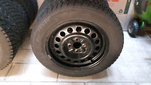 Winter Tires and Rims 185/65R15 London Ontario image 1
