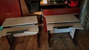 2 computer work stations