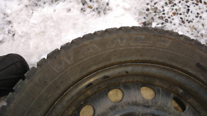 Wanli winter snow tires on rims from Mazda 3