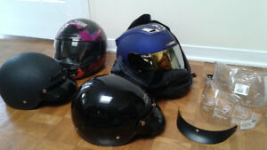 Motorcycle parts, full-face open-face helmets, google and Jacket
