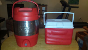 Bubba Keg Cooler and Rubbermaid Cooler