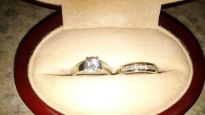 Diamond Solitaire Ring & Matching Band Set $1500.00 OBO