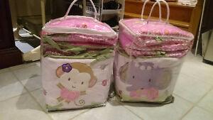 Crib bumper pads -Twins set of two