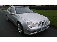 2003 MERCEDES C200 1.8 SE KOMPRESSOR COUPE *** NEW MOT, PANORAMIC ROOF ***