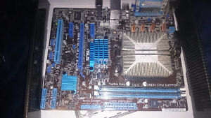 asus motherboard, amd cpu, 4gb ddr3 ram