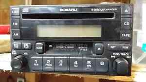 2002 WRX Stock Radio and in dash 6  CD changer.