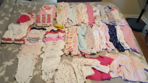 New born - 3 months girl clothes and more.