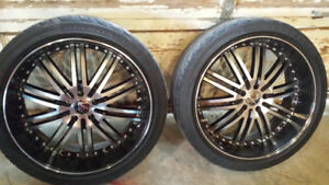 """22"""" ruffino 5x114.3 = 5x4.5 with decent tires"""