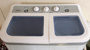 Apartment size washer and spin dryer.