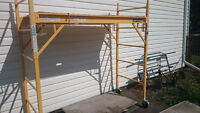 Bakers Scaffold with safety railings