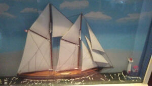 Art - of Canadian schooner Blue Nose for $50.00