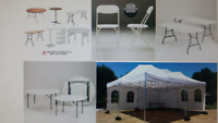 Party Rentals: Chairs,Tables, Tents, Dishes, Cutlery & More!!!