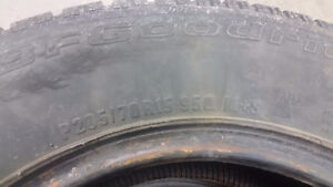 4 BFGoodrich Winter Slalom tires P205/70R15 Kitchener / Waterloo Kitchener Area image 5