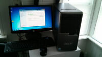 TOWER ACER CONPLETE SYSTEM/2CORE/2GBRAM/500HD/DVD-R./$130