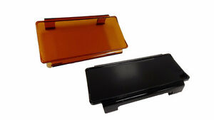 LED Light Bar Lens Cover - Amber or Black