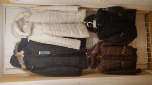 Girl Winter Hood Coats, Size 10/12, XS and Small