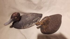 old wooden hunting duck decoy antique