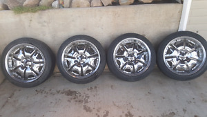 "20"" Konig rims with new tires"