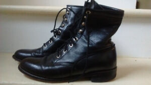 Vintage Granny Ankle Lace-up Boots, size 7.5 Women's