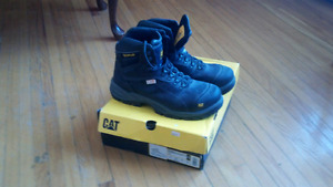 New Cat Steel Toe Work Boots SZ 11