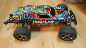 Traxxas Rustler VXL Like New - comes with extras!