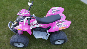 12 volt rechargeabl Perego Polaris Outlaw Ride-on Vehicle - Pink