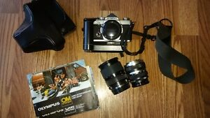 OM1 35 mn Olympus Set with Lenses and Winder