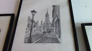 Black and White Framed Sketches - Montreal and Quebec Kitchener / Waterloo Kitchener Area image 3