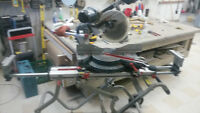 "Bosch 10"" sliding mitre saw complete with stand"
