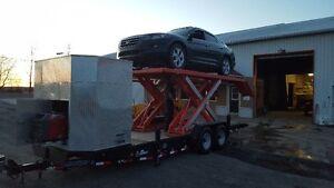 Remorque scisor lift antirouille et mecanique mobile