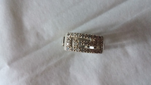 Women's Greek Key Wedding Band - Sterling Silver size 6