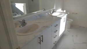 New Ensuite Vanity Top with 2 Faucets and 2 Sinks