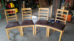 Solid Oak Chairs $40