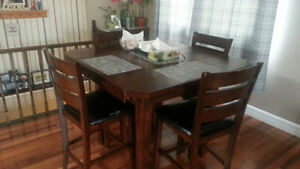 solid maple Bar Style dining table