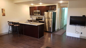 Large furnished 2 bedroom Basement suite with all appliances
