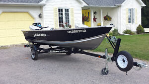 "2011 LEGEND 16"" Widebody Fishing Boat package"